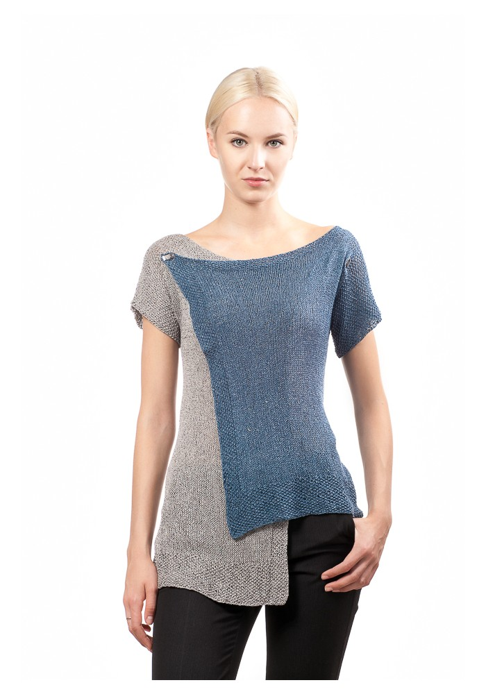 short sleeve two colours jumper