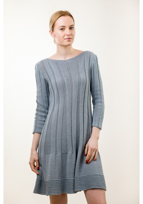 Hand cable knit dress