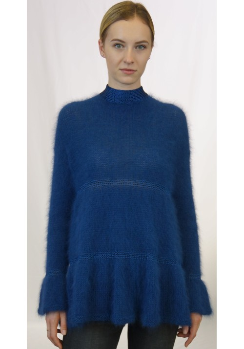 Angora sweater, Angora knitwear, Hand knit angora, Angora sweater women, 100% hand knit rabbit angora sweater