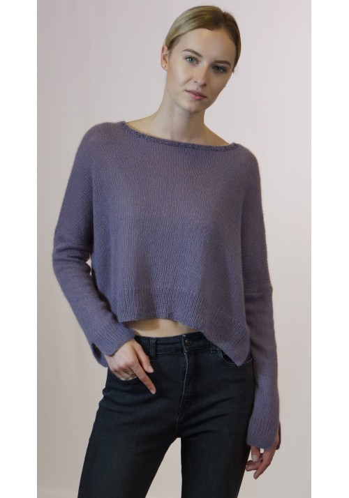 Cashmere Sweater, Pure Cashmere Knit Sweater, Oversize cropped sweater, Cozy  Sweater, Cropped Jumper,