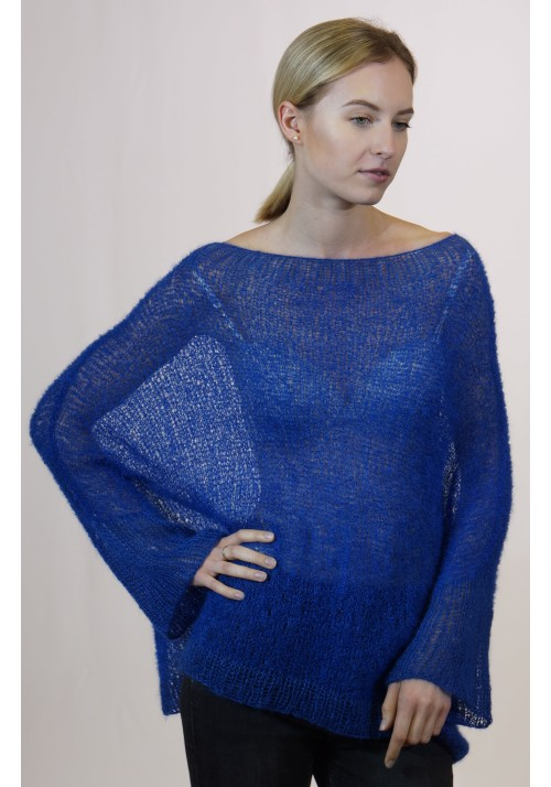 Blue sweater cover up