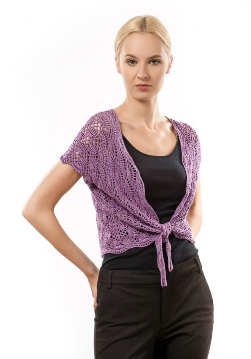 Violet Knit Tie Summer Cardigan