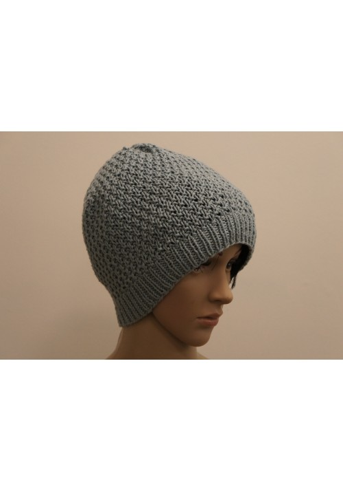 Aqua Color Hat Knitted Ribbon