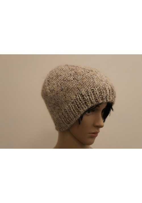 Light Multicolored Woolen Hat Knitted Ribbon