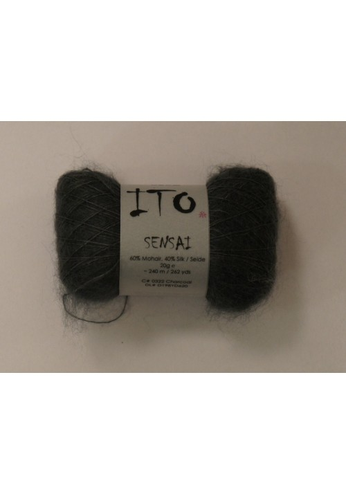 Ito Sensai Mohair Silk Yarn Knitted Ribbon